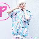 [半袖]サクラBIGパーカー 原宿系 ファッション レディース パーカー 桜 猫柄 猫 ネコ ねこ