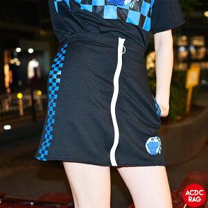 アップルチェックタイトスカート | スカート ミニスカート 原宿系 韓国 ファッション レディース 刺繍 派手 かわいい 派手カワ ストリート パンク ロック 病みかわいい ダンス 衣装 ヒップホップ ガールズ 個性的 チェック ACDC RAG [メール便可]