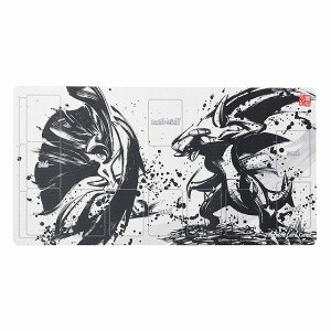 Pokemon Center Original Pokemon Card Game Rubber Play Mat Sumi-e Retsuden Mega El Reid & Gabrias