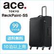 ace. ロックペイントSS 送料無料 ポイント10倍 99リットル☆10泊以上の長期のご旅行向きソフトキャリーケース 35704