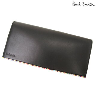 ポールスミス財布/PaulSmith/長財布/レザーウォレット_ブラック