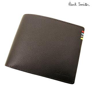 ポールスミス/PaulSmith/財布/コントラストインサイト2つ折りレザーウォレット