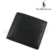 399ab28a9ca1 Polo Ralph Lauren ラルフローレン 財布 メンズ スムースレザー 2つ折りウォレット/ブラック[P
