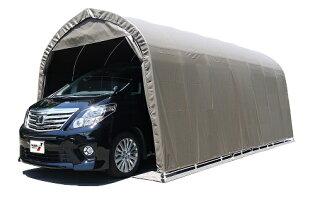〈南栄工業)パイプ車庫3256BSB大型BOX車用(角パイプベース式)【送料無料】雨、風、ホコリから愛車を守ります。洗車回数が劇的に減ります。