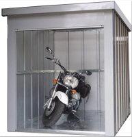 バイクハウス(MBW-1800)アルミシャッター床付雨といジャバラ付【6月下旬〜7月上旬入荷予定です。ご予約をお受けします。】【決算処分価格】05P01Jun14