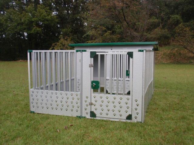 ドッグハウス  スチール製DFD-1 (床付)(0.5坪タイプ)+【サークルハウス STG-1】【代金引換不可】 【決算処分価格】【スチール 大型犬 犬小屋 大型犬サークル】【スーパーSALE】05P03Dec16:ホームセンターエース