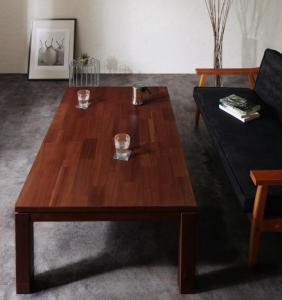 天然木モザイク調デザイン継脚こたつテーブル Vestrum ウェストルム 4尺長方形(80×120cm)【代金引換不可】