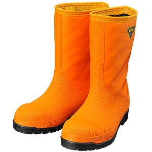 シバタ工業 SHIBATA 冷蔵庫長靴 NR031 冷蔵庫長-40℃(オレンジ)  各サイズ