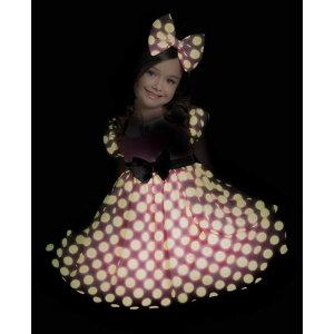 ディズニーミニーマウスクラブハウス光るドレスハロウィンコスプレ子供用コスチューム