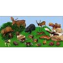 動物 フィギュア アニマル フィギュア 教材 知育玩具 動物 森の動物フィギュアセット 20体セット