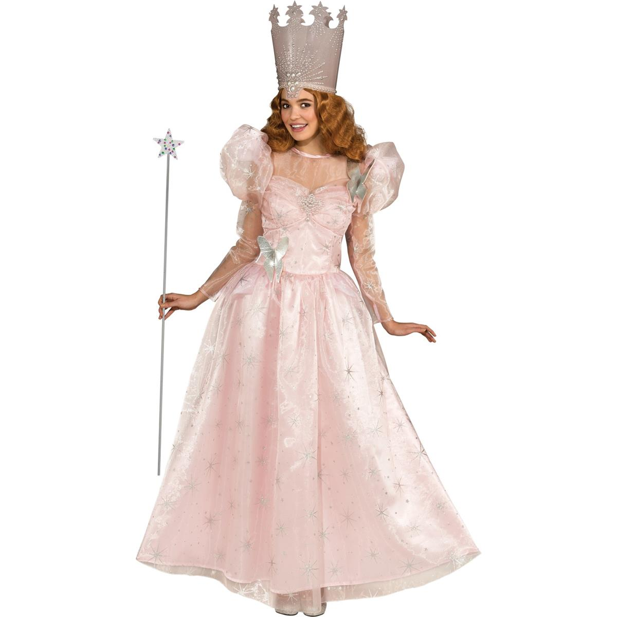 オズの魔法使い ハロウィン コスプレ 南の魔女 グリンダ 大人用デラックスコスチューム画像