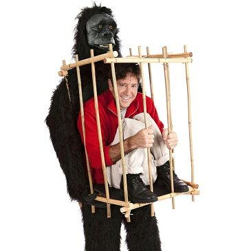 ゴリラ 着ぐるみ 動物 コスプレ 檻の中の人質 大人 ハロウィン おもしろい コスチューム 仮装 衣装
