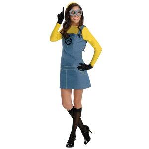 ミニオンコスプレ衣装大人怪盗グルーミニオンの女性用コスチューム