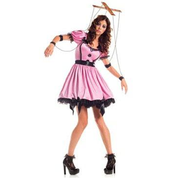 あやつり人形 コスチューム 大人 女性用 レディース コスプレ お化け屋敷 仮装 衣装 ハロウィン ホラー 恐怖系