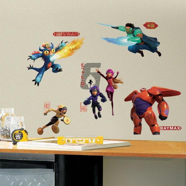 ベイマックスグッズウォールデカルステッカーインテリア子供部屋壁飾りディズニーデコレーションBIGHERO6
