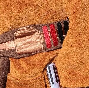 映画スターウォーズジェダイ・マスターフリースバスローブガウン男性用ハロウィンコスプレコスチューム衣装