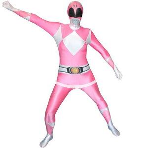 特撮戦隊シリーズ大人コスチュームコスプレパワーレンジャーピンク全身タイツスーツ