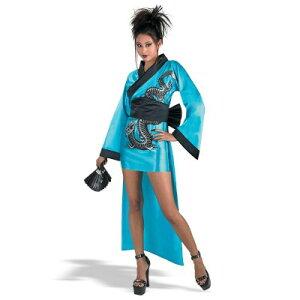 【通常便なら送料無料】ドラゴン忍者 浴衣・夏祭り用コスプレ衣装 アジアン・コスチューム 盆踊り