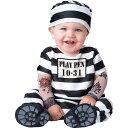 在庫処分市 囚人 受刑者 赤ちゃん 着ぐるみ ハロウィン コスプレ コスチューム 幼児 子供 仮装 白黒 ボーダー 服 あす楽