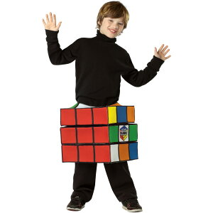 【通常便なら送料無料】ハロウィン 衣装 子供 ルービックキューブ 子供用コスチュームハロウィ...