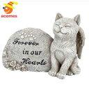 猫 お墓 ペット 天使ねこ 墓 樹脂製 記念 碑 ネコ メモリー デコレーション