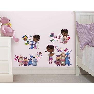ドックはおもちゃドクター ウォールステッカー 30パーツ 壁 シール 子供部屋 インテリア ディズニー キャラクター グッズ