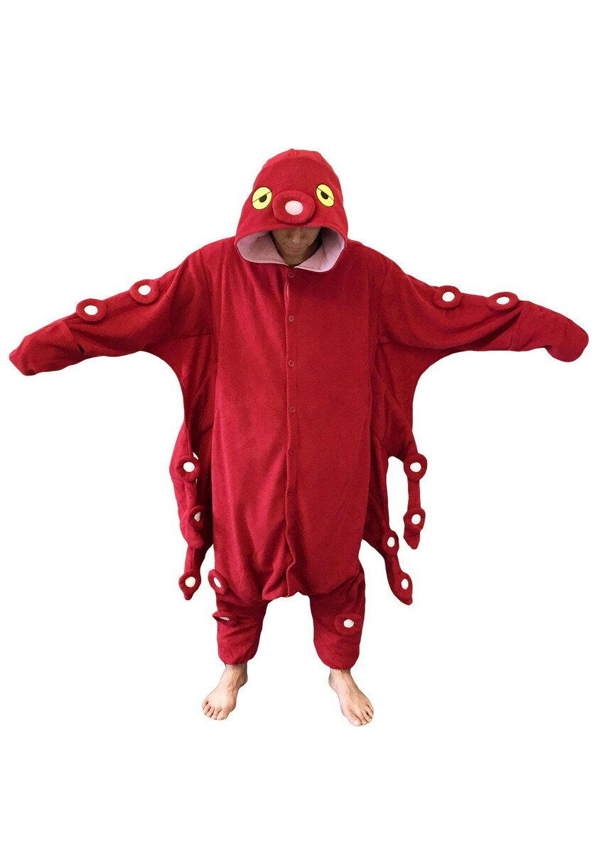 赤 たこ タコ パジャマ 着ぐるみ コスプレ コスチューム 仮装 大人