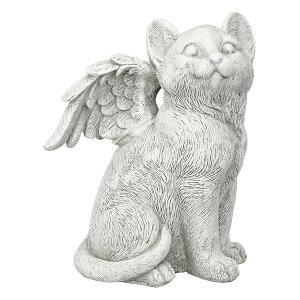 猫ペット動物メモリアルグッズ石置き物Lサイズ