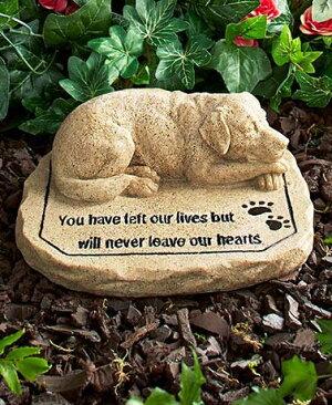ペットメモリアルグッズ犬お墓墓石Youhaveleftourlivesbutwillneverleaveourhearts