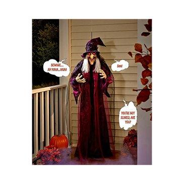 話す 魔女 人形 置き物 180cm ハロウィン インテリア お化け屋敷 ホラー デコレーション 飾り 装飾