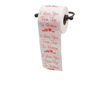 トイレットペーパー メッセージ I Love You from Top to Bottom おもしろい カップル バレンタインデー ホワイトデー ギフト プレゼント