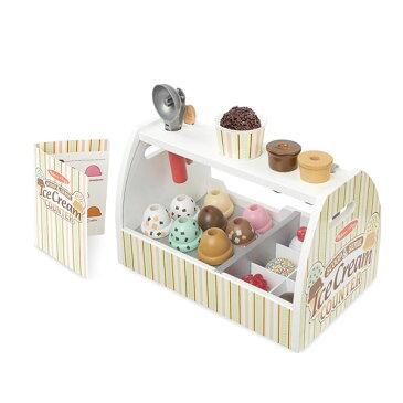 メリッサ&ダグ アイスクリーム屋さん ごっこ 木製 おもちゃ セット ごっこ遊び 知育 玩具 職業 体験