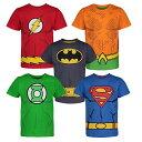 男の子 Tシャツ 5枚 セット バットマン スーパーマン フラッシュ アクアマン グリーンランタン