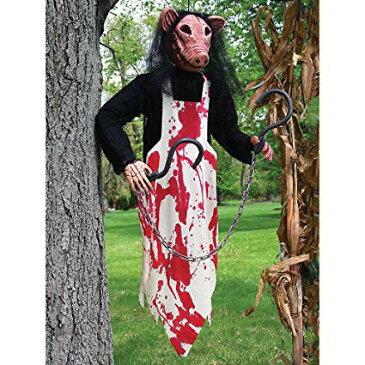 ハロウィン 飾り ブッチャー ブタ 人形 ぶら下げ 装飾 デコレーション お化け屋敷 肝試し