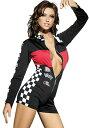 セクシー コスチューム 大人 ハロウィン コスプレ 衣装 レースクイーン キャンギャル風 レーサー 女性用ジャンプスーツ 2