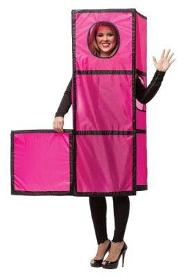 テトリス マジェンタ 大人用 コスチューム コスプレ パーティー ゲーム パーツ ピンク