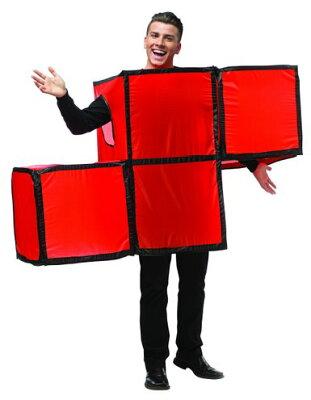 テトリス レッド 大人用 コスチューム コスプレ パーティー ゲーム パーツ 赤