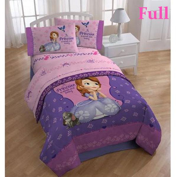 小さなプリンセス ソフィア グッズ 寝具 インテリア 子供部屋 シーツセット フルサイズ ダブル