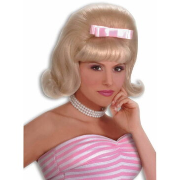 50's フィフティーズ ブッファンヘア ふんわり ブロンド ウィッグ かつら 女性用 レトロ ビンテージ ハロウィン コスプレ コスチューム 衣装 グッズ