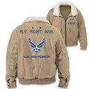 ボンバージャケット ボマー ジャケット メンズ 男性 エアフォース 空軍 フライトジャケット 米軍 軍人 ビンテージ アメリカ Air Force 通常便は送料無料