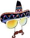サングラス サンブレロ UV400 耐衝撃性レンズ 大人 子供 メキシコ帽子 おもしろメガネ 眼鏡 コスプレ 仮装 ハロウィン パーティー インスタ イベント 通常便は送料無料