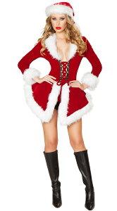 ハロウィン サンタ コスプレ セクシー レディース コスチューム サンタクロース クリスマス フレアスカート コート ショーツ付 ダンサー ダンス 衣装 仮装 大人 女性