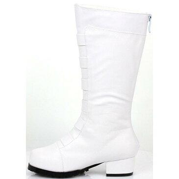 ハロウィン 男の子 子供 ブーツ 白 戦隊 ヒーロー コスプレ コスチューム 靴 シューズ キッズ 子ども 少年 ボーイズ なりきり