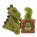 ジェリーキャット ぬいぐるみ 恐竜 ダイナソー 絵本付き バシュフル 動物 おもちゃ 玩具 英語教材 雑貨 王室御用達 セレブ御用達 出産祝い ギフト