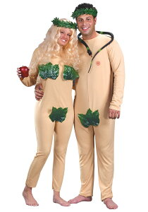 【通常便なら送料無料】アダムとイブ(カップル用:ハロウィン:コスチューム)Adam&EveAdult☆ギフトに、パーティー、結婚式のニ次会の演出にもどうぞ!【コスプレ衣装】☆
