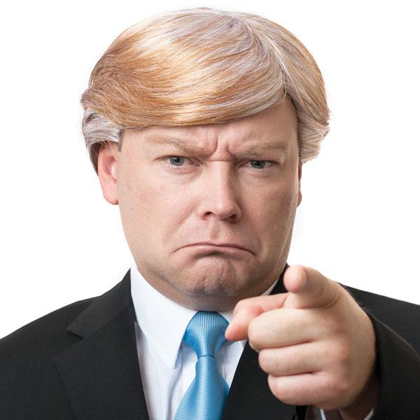ドナルドトランプかつら不動産王コスプレ社長ウィッグ大統領選挙金髪おじさんヅラ