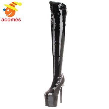 ブーツ 大人 女性用 ニーハイブーツ ブラック