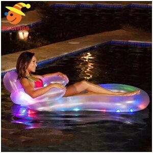 LED光る浮き輪うきわボートフロートおもしろいプール海ビーチパーティグッズ