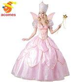 フェアリーゴッドマザー 魔法使い コスチューム ドレス 女性用 大人用 シンデレラ おとぎ話 フェアリーテイル ハロウィン コスプレ 衣装