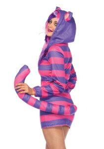チェシャ猫コスプレコスチュームパーカー大人女性用着ぐるみパジャマレディース仮装不思議の国のアリスディズニーキャラクター